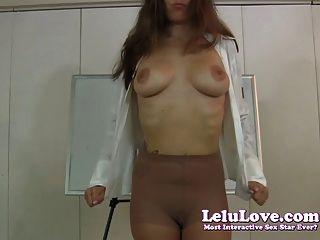 Lelu Liebe-Strumpfhosen Leugnung und Demütigung