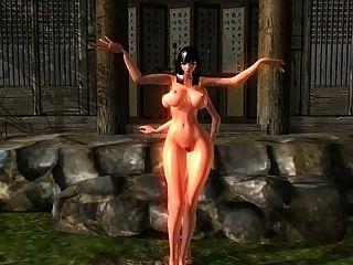 Klinge und Seele nackt mod Tanzen