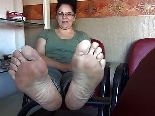 BBW fleischige Füße Footjob