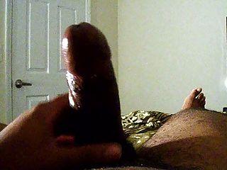 schwarzen Schwanz voller Sperma