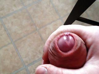 Rucken eine große Last von Sperma aus