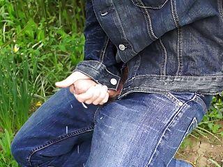 schönen Schwanz in Jeans Spaß