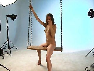 Ballerina annett. Wippe Foto-Shooting.