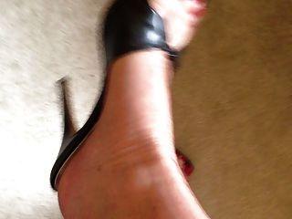 meine Füße in den Strümpfen und Fersen