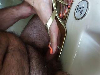 shoejob mit orange polish