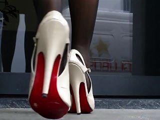 High Heels Sandalen und Nylonfüße 2