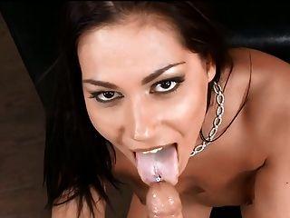 cum auf der Zunge