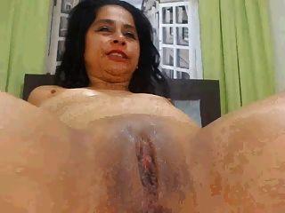 latina Milf offene Muschi breit und spritzen und ficken part2