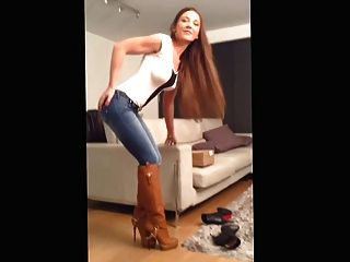 Leder Kneehigh boots.mp4