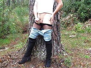 meine Masturbation in der Natur Teil 2