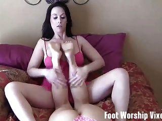 Stripper Sadie holmes gibt Ihnen einen foot und Wichsen