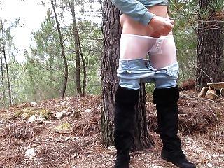 meine Masturbation in der Natur.