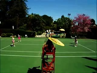 nackt Tennis
