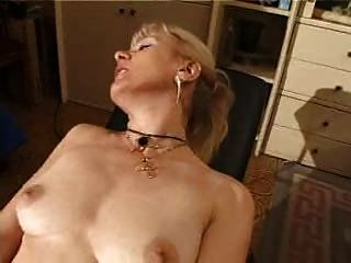 französisch rasierte blonde Oma pt7