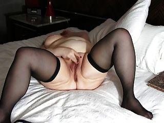 alte dicke Dame masturbiert zum Orgasmus