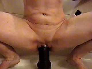 riesigen schwarzen Dildo