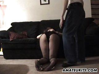 schwanger Amateur Freundin Blowjob mit Sperma auf Titten