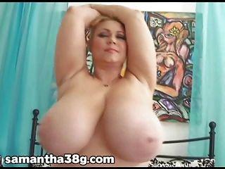 bbw samantha 38g schüttelt ihren riesigen natürlichen Titten und Arsch