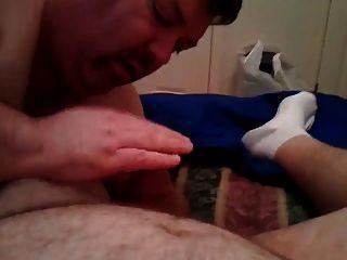 tragen Papa sucks dick und essen cum