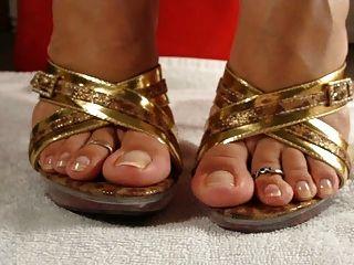 cum für ihre Füße