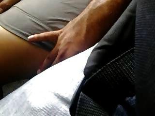 sehr sexy Beine piernotas acariciadas Touch Bus