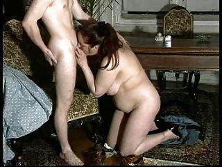 n93 Brünette sexy Mutter reifen mit einem jungen Mann