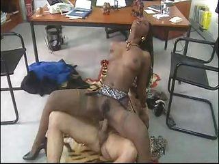 afrikanischen Babe gefickt