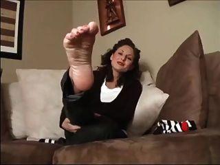 Socken und Sohlen Fuß necken