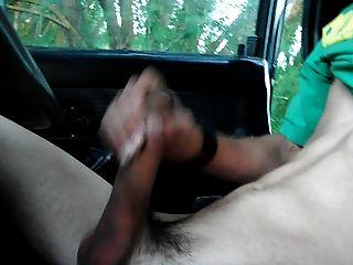 in meinem Auto gewichst