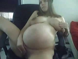 herrlich schwangere Mädchen auf Webcam 2
