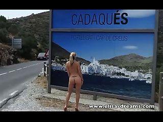 verrückter Tag in Spanien! blinken und Masturbation