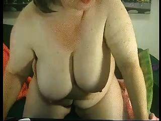 Fett Oma auf dem Netz r20