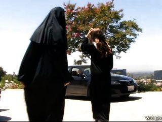 schmutzigen anal große Beute Nonnen