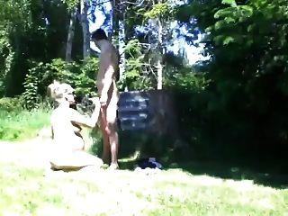 schwanger Fick im Garten