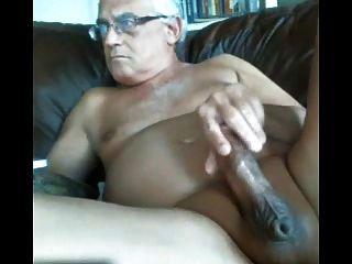 likeaolder Opa 61 yd Rucken seinen fetten Schwanz und Sperma aus