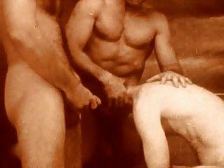 Vintage-bareback behaarten Daddys