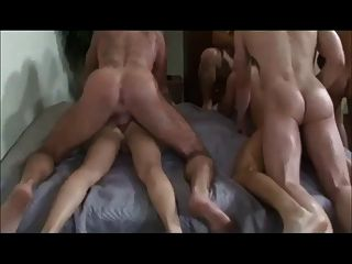 amatuer bareback Orgie