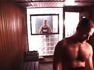 heißen Dreier in der Sauna