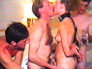 britische Schlampe Frau im Hotel gangbang