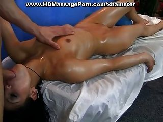 Massage Blowjob und hot fucking