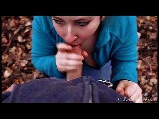 Blowjob im Wald und Gesichts