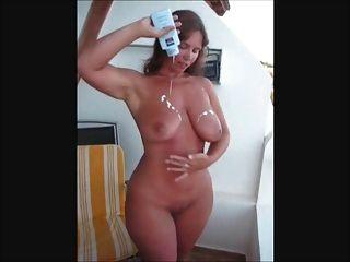 big ass und Titties britische Babe Lotionen ihr Vermögen bis