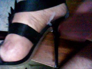 cum meine High Heels Sandalen
