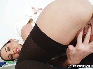 Krankenschwester Uniform bei Gynäkologen sandra Pussy Masturbation tragen