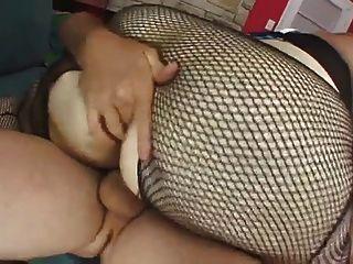 bbw Blondine auf dem Sofa gefickt