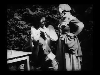 Vintage-erotischen Film 8 - mousquetaire au restaurant 1910