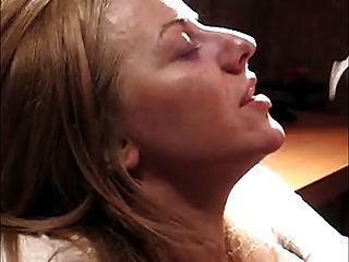 Gesichts auf einem wunderschönen blonden