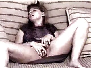 Vintage Amateur Frau reibt sich heraus!