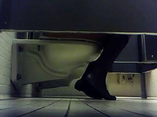 College-Mädchen Toilette Spion