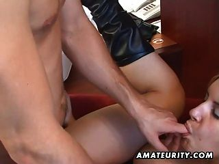 Amateur anal Dreier mit mitten ins Gesicht